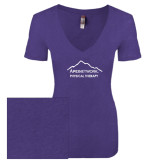Next Level Ladies Vintage Purple Rush Tri Blend V Neck Tee-Physical Therapy