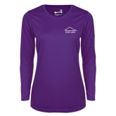 Ladies Syntrel Performance Purple Longsleeve Shirt-Physical Therapy