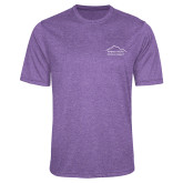 Performance Purple Heather Contender Tee-Physical Therapy
