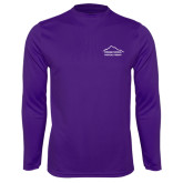 Performance Purple Longsleeve Shirt-Physical Therapy