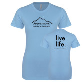Ladies SoftStyle Junior Fitted Light Blue Tee-Physical Therapy