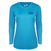 Ladies Syntrel Performance Light Blue Longsleeve Shirt-Physical Therapy