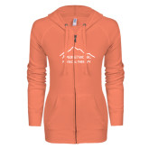 ENZA Ladies Coral Light Weight Fleece Full Zip Hoodie-Physical Therapy