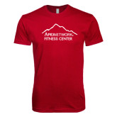 Next Level SoftStyle Cardinal T Shirt-Fitness Center