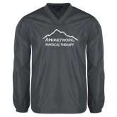 V Neck Charcoal Raglan Windshirt-Physical Therapy
