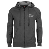 Charcoal Fleece Full Zip Hoodie-Physical Therapy