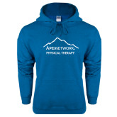 Heathered Sapphire Fleece Hoodie-Physical Therapy