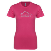 Ladies SoftStyle Junior Fitted Fuchsia Tee-Physical Therapy Foil