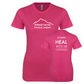 Ladies SoftStyle Junior Fitted Fuchsia Tee-Physical Therapy