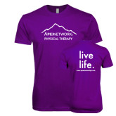 Next Level SoftStyle Purple T Shirt-Physical Therapy