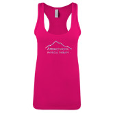Next Level Ladies Raspberry Ideal Racerback Tank-Physical Therapy Foil