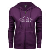 ENZA Ladies Purple Fleece Full Zip Hoodie-Physical Therapy
