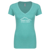 Next Level Ladies Vintage Tahiti Blue Tri Blend V Neck Tee-Physical Therapy