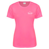 Ladies Performance Hot Pink Tee-Fitness Center