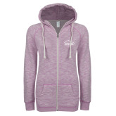 ENZA Ladies Hot Violet Marled Full Zip Hoodie-Physical Therapy