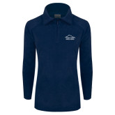 Columbia Ladies Half Zip Navy Fleece Jacket-Physical Therapy