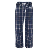 Navy/White Flannel Pajama Pant-Physical Therapy