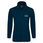 Ladies Fleece Full Zip Navy Jacket-Physical Therapy