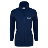 Columbia Ladies Full Zip Navy Fleece Jacket-Physical Therapy