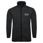 Black Heather Fleece Jacket-Physical Therapy