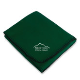 Dark Green Arctic Fleece Blanket-Physical Therapy