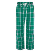 Green/White Flannel Pajama Pant-Physical Therapy