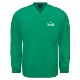 V Neck Kelly Green Raglan Windshirt-Physical Therapy