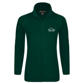 Ladies Fleece Full Zip Dark Green Jacket-Physical Therapy