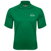 Kelly Green Textured Saddle Shoulder Polo-Physical Therapy