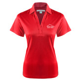 Ladies Red Performance Fine Jacquard Polo-Physical Therapy