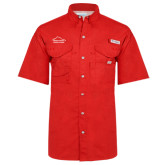 Columbia Bonehead Red Short Sleeve Shirt-Physical Therapy