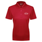 Ladies Red Dry Mesh Polo-Physical Therapy