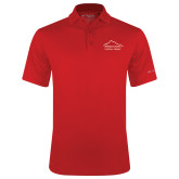 Columbia Red Omni Wick Drive Polo-Physical Therapy