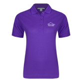 Ladies Easycare Purple Pique Polo-Physical Therapy