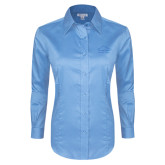 Ladies Red House Light Blue Long Sleeve Shirt-Physical Therapy