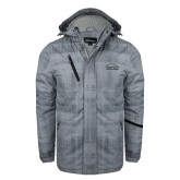 Grey Brushstroke Print Insulated Jacket-Physical Therapy