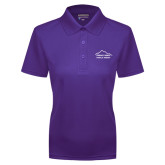 Ladies Purple Dry Mesh Polo-Physical Therapy