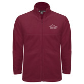Fleece Full Zip Maroon Jacket-Physical Therapy