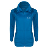 Ladies Sport Wick Stretch Full Zip Sapphire Jacket-Physical Therapy
