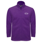 Fleece Full Zip Purple Jacket-Physical Therapy
