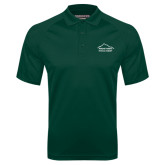 Dark Green Textured Saddle Shoulder Polo-Physical Therapy