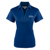 Ladies Navy Performance Fine Jacquard Polo-Physical Therapy