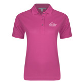 Ladies Easycare Tropical Pink Pique Polo-Physical Therapy