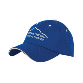 Royal Mesh w/White Sandwich Structured Hat-Physical Therapy