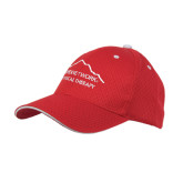 Red Mesh w/White Sandwich Structured Hat-Physical Therapy