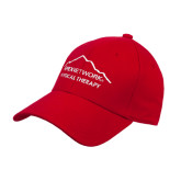 Red Heavyweight Twill Pro Style Hat-Physical Therapy
