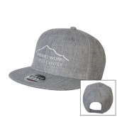 Heather Grey Wool Blend Flat Bill Snapback Hat-Fitness Center