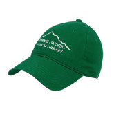 Kelly Green Twill Unstructured Low Profile Hat-Physical Therapy