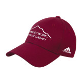 Adidas Maroon Structured Adjustable Hat-Physical Therapy