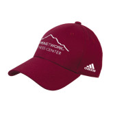 Adidas Maroon Structured Adjustable Hat-Fitness Center